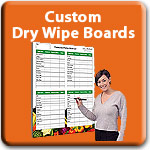 Custom Dry Wipe Boards