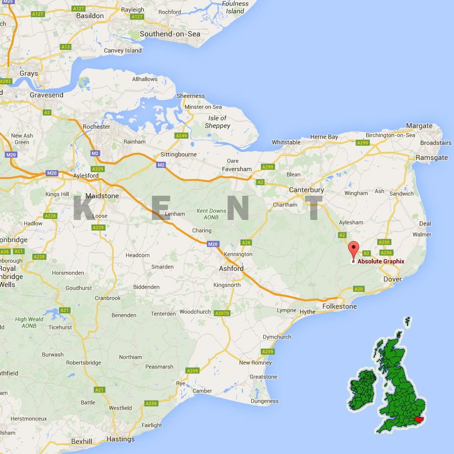 Map Of England Kent.Contact Absolute Graphix In Dover Kent England