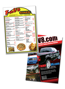 Menus and Flyers